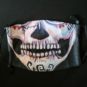 2 piece Toothy skull mask & filter stitch l…
